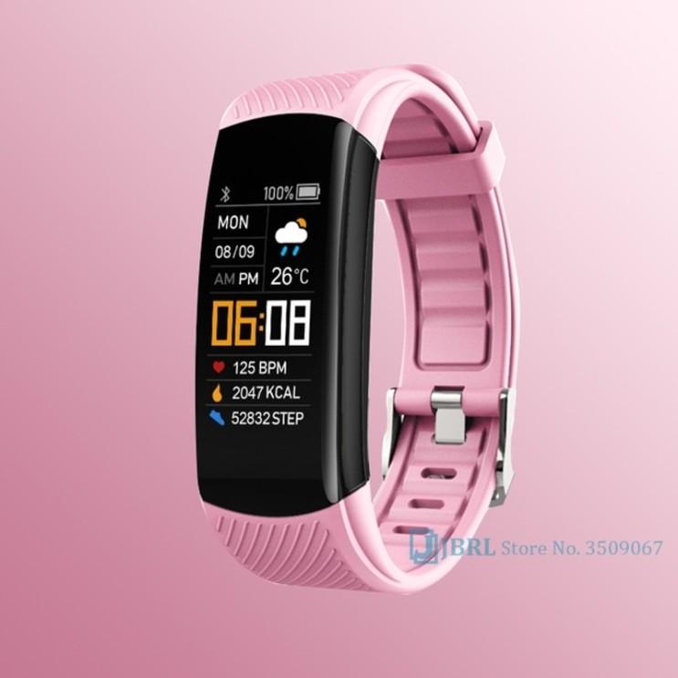 갓성비 좋은 2021 스마트 시계 남성 여성 스포츠 스마트 워치 피트니스 트래커 시계 안드로이드 iOS 심박수 모니터 전자 시계 방수, 분홍 추천합니다