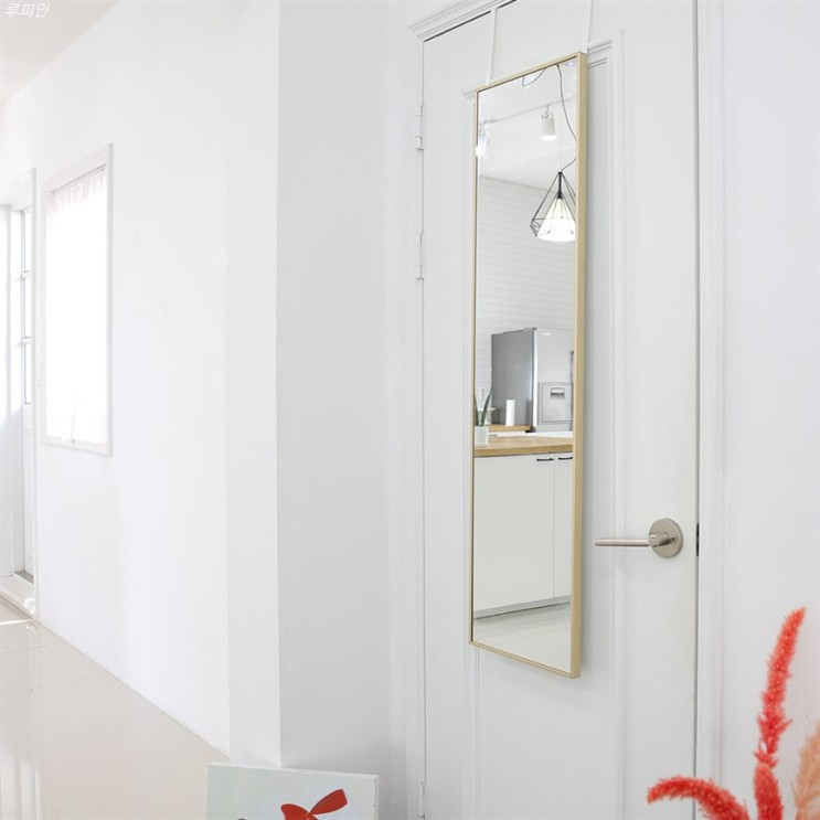 이주 신상아이템 우드리퍼블릭 슬림 알루미늄 문걸이 전신 거울 구매후기!