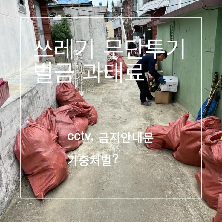 쓰레기 무단투기 벌금 과태료 신고 방법과 포상금