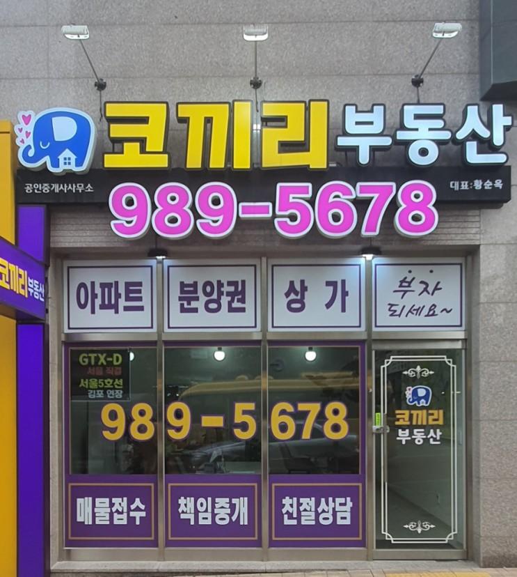 김포 마산동 코끼리부동산의 변화