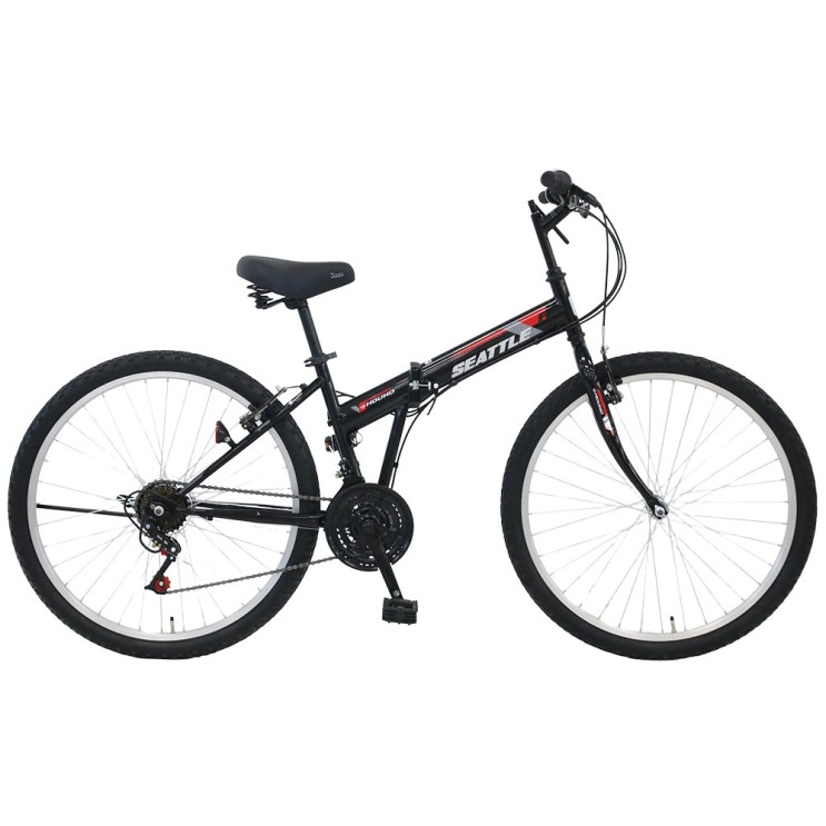 후기가 정말 좋은 2021 삼천리 접이식 자전거 시애틀F 26인치 21단, 미조립박스, 블랙 ···