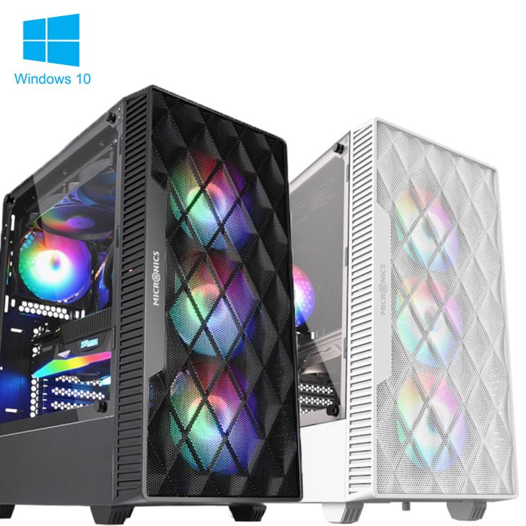 최근 많이 팔린 샵PC 게이밍 컴퓨터 본체 조립PC 라이젠 인텔 배그 오딘 롤 게임용 데스크탑, 게이밍 본체 - 01, [MICRONICS] M60 매쉬 블랙 추천해요