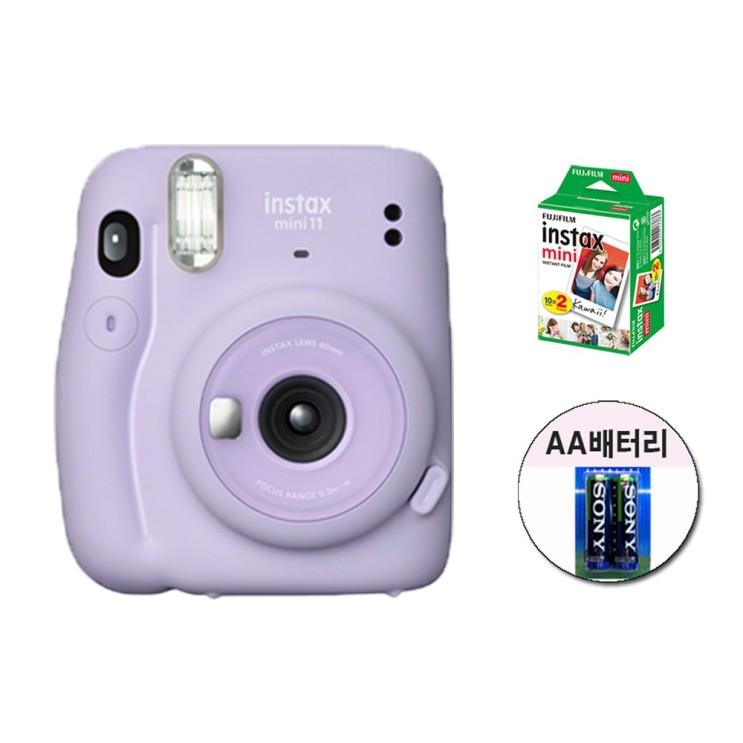 요즘 인기있는 인스탁스 미니11카메라+필름20장+사은품 즉석카메라, 퍼플 추천합니다