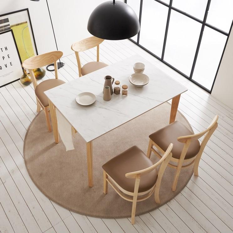 잘나가는 보니애가구 라일라 1200 13.5T 통세라믹 4인용 식탁 세트 식탁세트, 테이블 단품 추천합니다