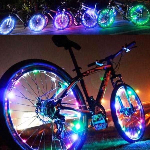 선택고민 해결 무지개휠라이트 자전거용품 오토바이용품, 핑크 좋아요
