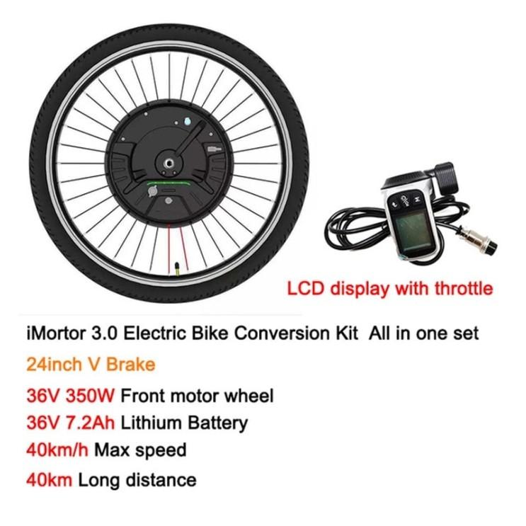 의외로 인기있는 Ebike 전기 자전거 변환 키트 배터리 전면 모터 휠 전기 Imotor 3.0 최대 속도 40 Km h MTB 자전거 액세서리 | 전기 자전거 | - 알리 익스프
