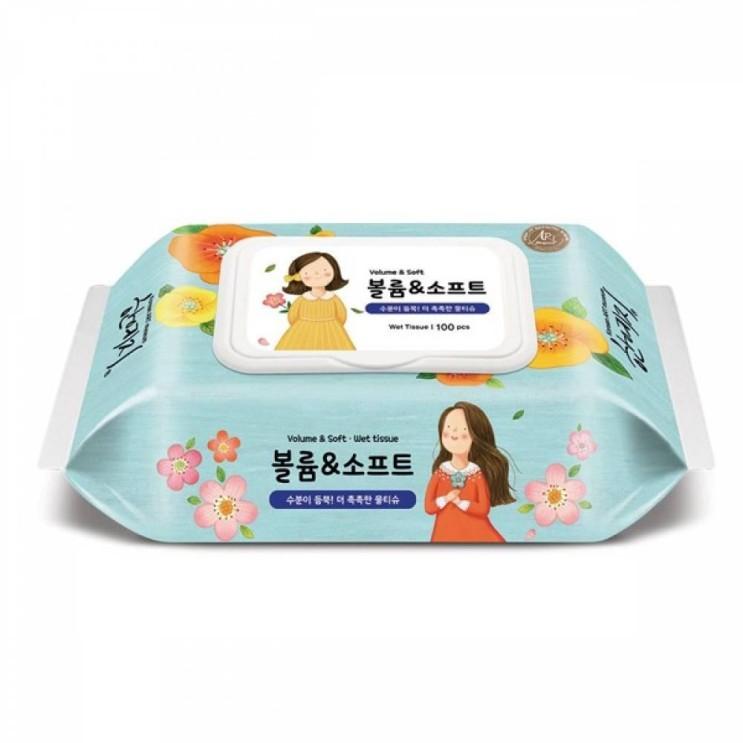 인기있는 NDE728998캡100매 물티슈 한예지 에디션 볼륨n소프트 탕비 위생 회사 오피스 생활 주방 생필품 추천해요