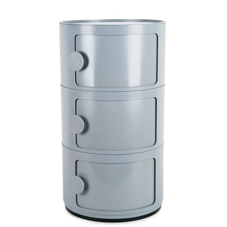 인기있는 군대 관물함 정리 플라스틱 다용도 미니 원형수납 서랍장 정리함, 네 개개, 흰색(손잡이) 추천해요