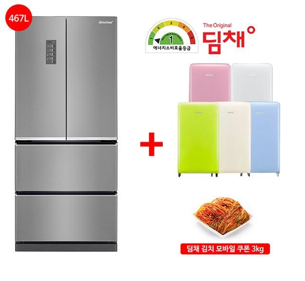 인지도 있는 [딤채](+미니 냉장고 김치 3kg)무료설치!21년형 김치냉장고 스탠드형 LDQ48EHRJD 4룸(467L/1등급) 추천합니다