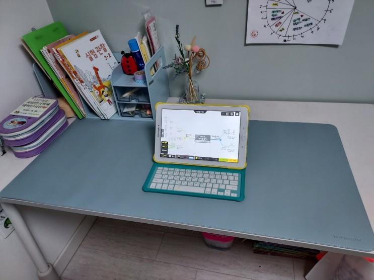 마우스패드 겸용 아이들 책상 테이블 시트 데스크매트 여름 겨울 양면패드 인조가죽 스웨드재질 시트