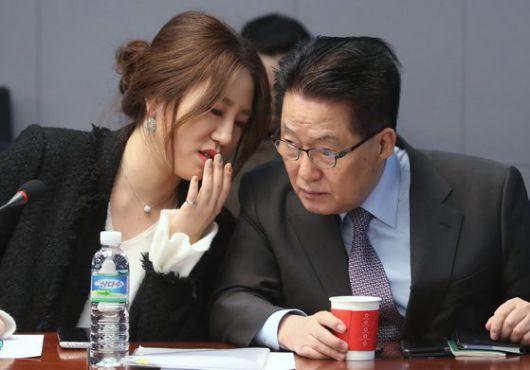 롯데호텔 38층서 박지원 만난 조성은