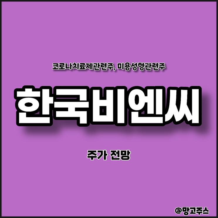 한국비엔씨 주가 전망- 미용관련주, 코로나치료제관련주