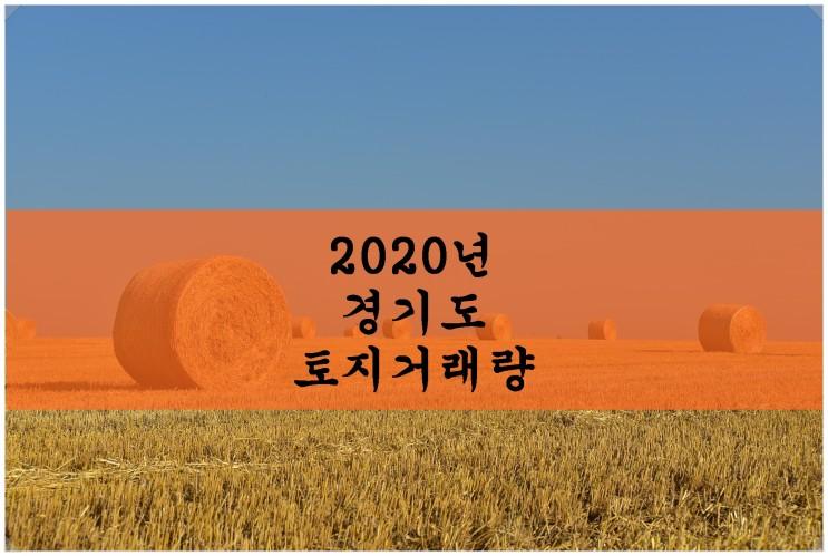 2020년 경기도 토지거래량 통계 보기