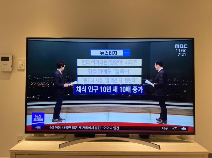 MBC 뉴스투데이, 채식인구 10년 새 10배 증가