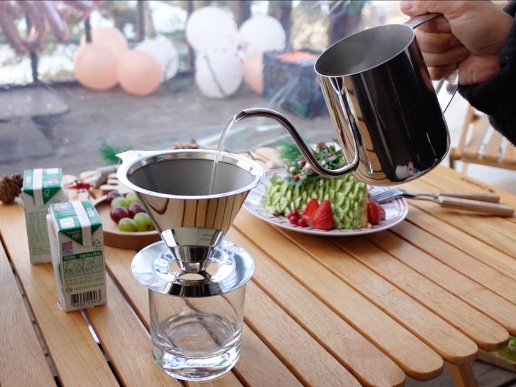 빈플러스 드립세트로 캠핑장 카페 만들기