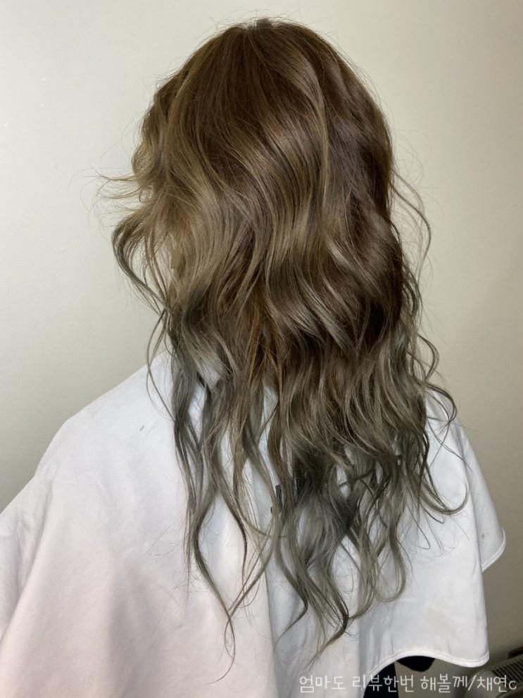 긴머리 투톤 염색 잘하는 병수디자이너.복구 매직 가격 포함
