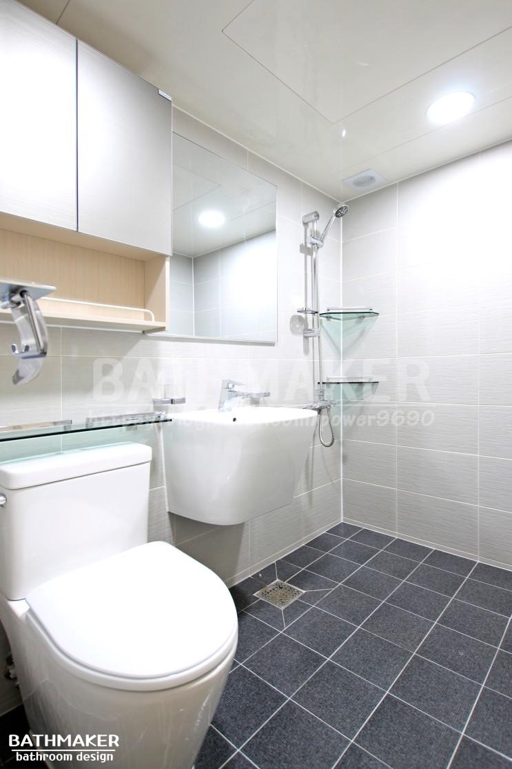 네이비 욕실인테리어 - 장암주공5단지. 욕실때안타는타일. UBR욕실