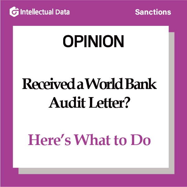 Received a World Bank Audit Letter? Here's What to Do