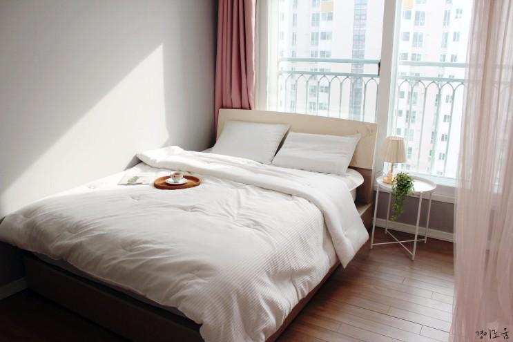 포근한 차렵이불 겨울 침실인테리어 호텔처럼 꾸미기 w.바이빔