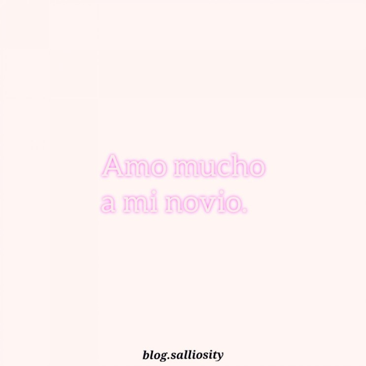 [스페인어] Amo mucho a mi novio.