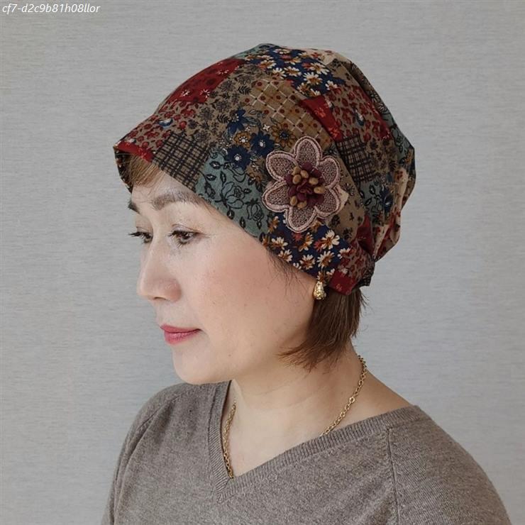 [할인제품] 제이제이나인 플라워 가을 겨울 큐빅 여성 두건 비니 모자 15,000 원 17% 할인~!