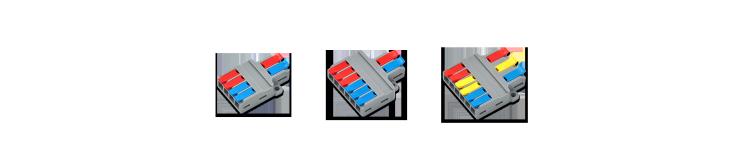 [칩센]레버형 구분확장 전선커넥터(와이드형) 전기 조명 전선연결 꽂음형커넥터 차량 DIY 조명 단선 연선