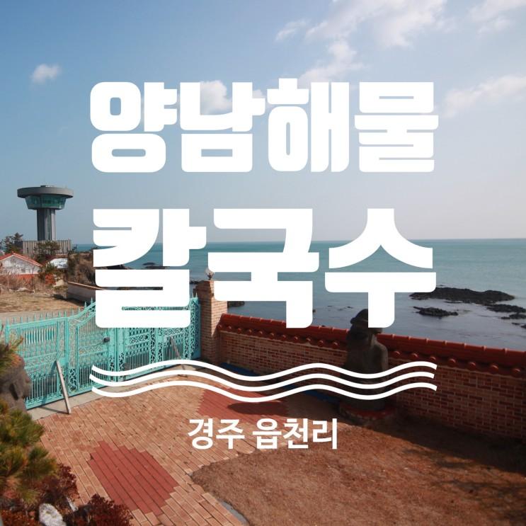 경주 주상절리 맛집 드라이브코스 추천 양남 해물칼국수 본점