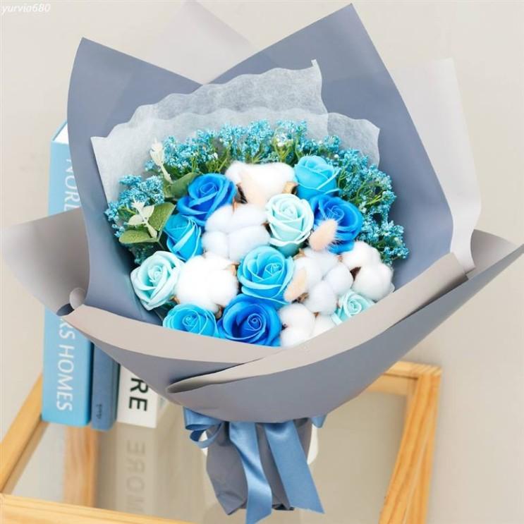 [특가상품] 아침향기 조화 목화 비누꽃 믹스 꽃다발 18,930 원♩ ♪♩