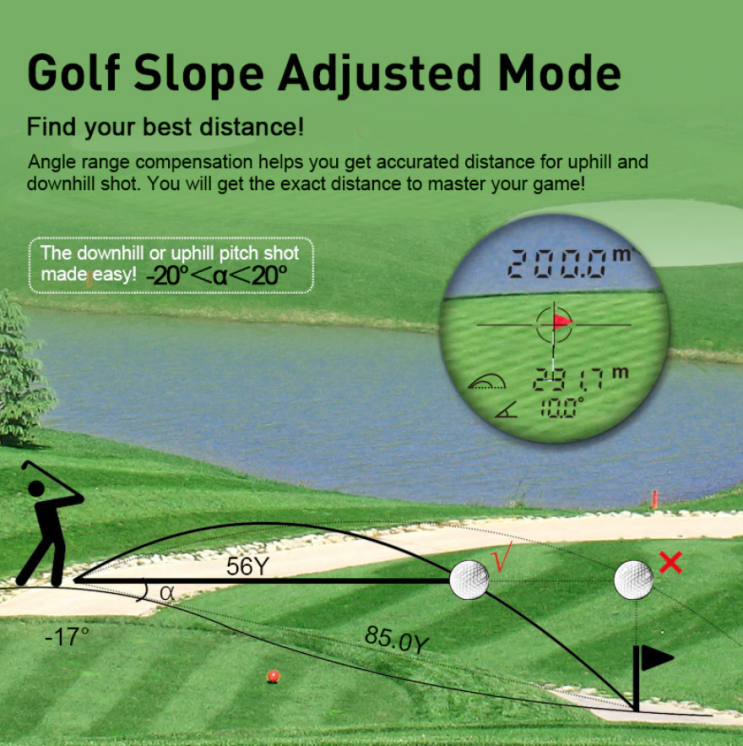 Mileseey PF210 600M Yd 골프 레이저 거리 측정기 미니 골프 거리 측정기 - 알리 직구