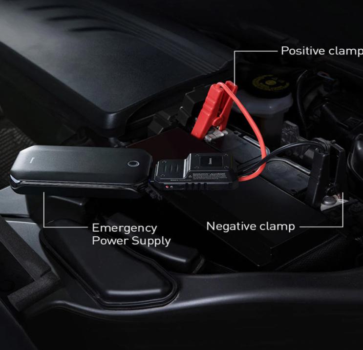 Baseus 자동차 점프 스타터 보조베터리 800A 휴대용 자동차 부스터 비상 배터리 충전기 - 알리 직구