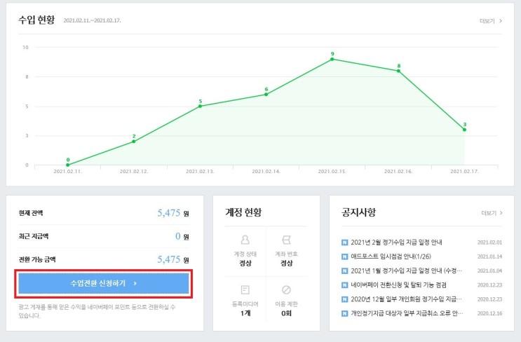 직장인 네이버블로그 애드포스트 점검(+애드포스트수익신청방법)
