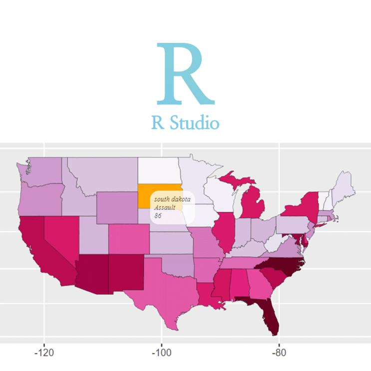 [R] ggiraphExtra:: ggChoropleth() : 인터랙티브 지도 그리기 (ex. 미국 주별 범죄율 데이터 시각화)
