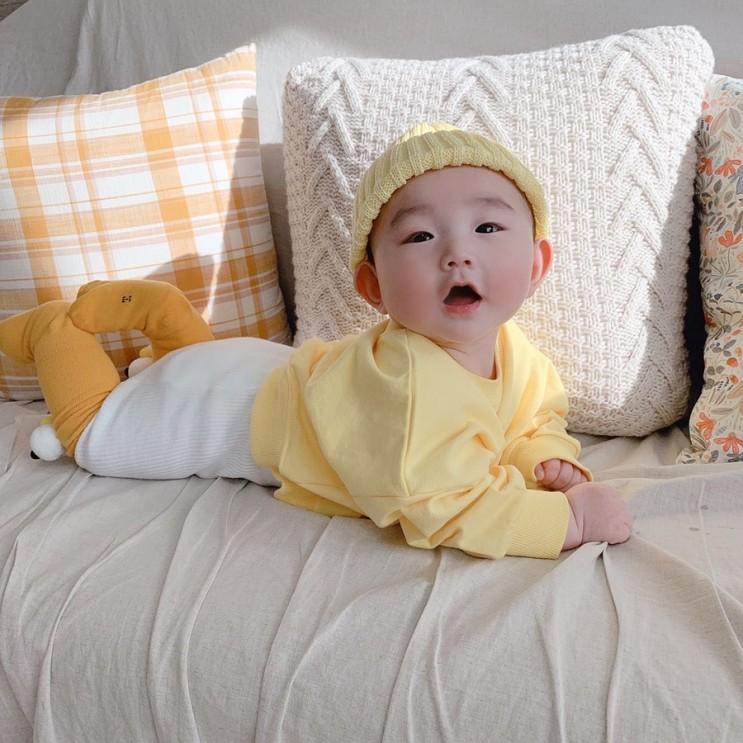 [성장사진] 생후 145일, 아기 봄옷 코디