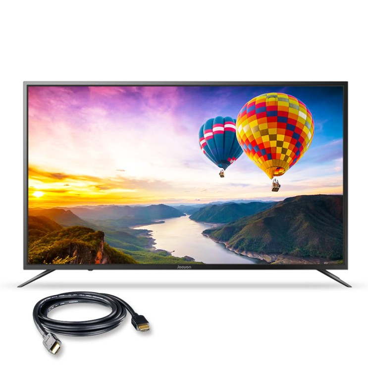 주연전자 UHD HDR 139cm smart TV JYE-DS550U 무결점 + HDMI 케이블, 스탠드형, 자가설치
