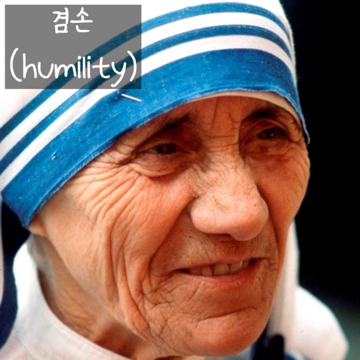 겸손해지는 방법 - 마더 테레사 명언
