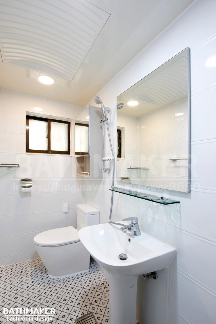 면목동 빌라 사가정역 세로구조 욕실 인테리어