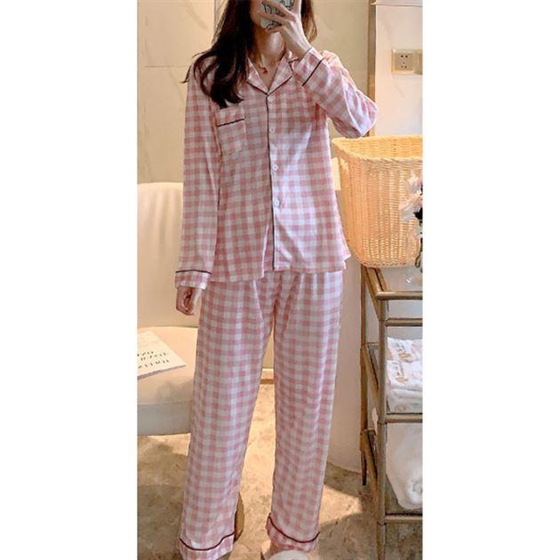 [추천특가] 민트코코아 여성용 체크 베이직 잠옷 세트 13,900 원☆ ♪