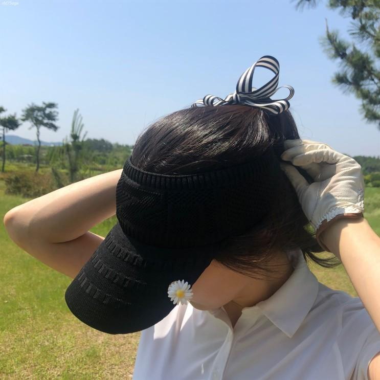 [할인상품] 로로얼로이 골프 여성용 쫀쫀한 니트 썬캡 모자 15,900 원! 16% 할인♫