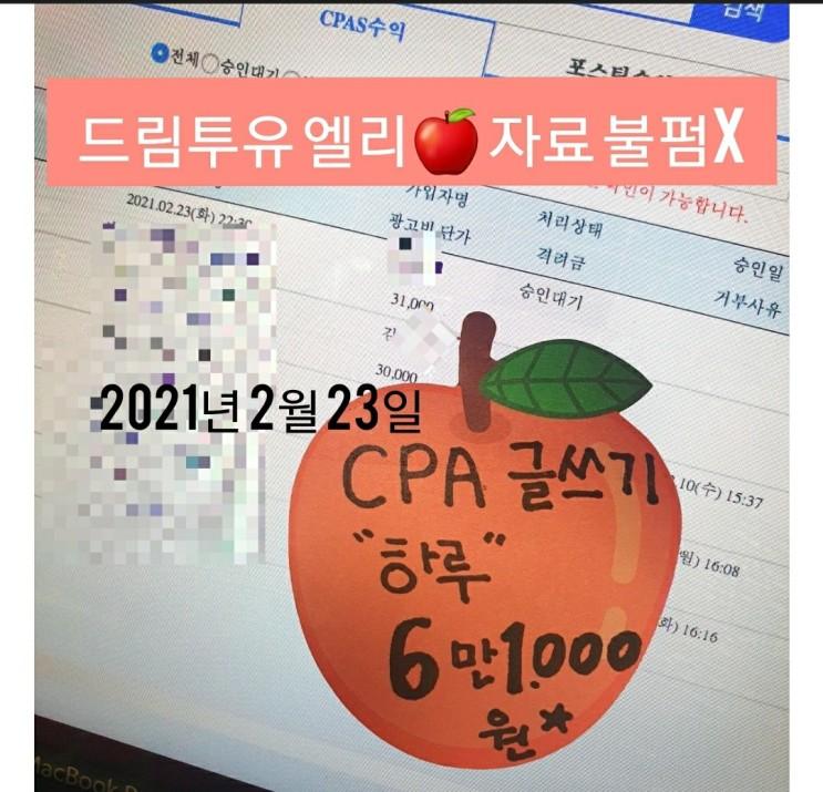 드림투유 CPA 하루 6만원이상 수익인증!!멘토 엘리 ♡