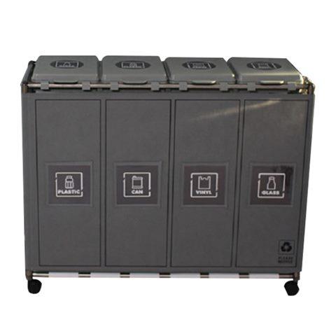 [추천특가] 비닐교체식 커버형 재활용 분리수거함 4칸 30,900 원☆ ~*