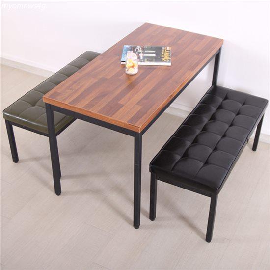 [특가제품] 위드퍼니처 4인 식탁세트-멀바우테이블 1200 조립다리 피아노2인스툴 2개 일반식탁/의자세트 130,800 원♩ 15% 할인♬