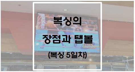 [운동] 복싱의 장점과 탭볼(복싱 5일차)