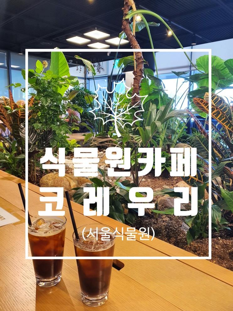 식물원 카페 코레우리 (feat. 서울식물원 식물문화센터)