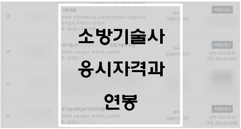 [기술사] 소방기술사 응시자격와 연봉