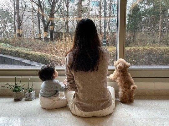 배우 최지우 인스타에 공개한 아기 강아지