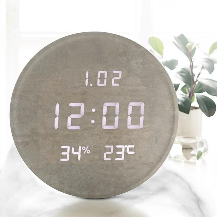 [대박할인] 플라이토 루나 온습도 인테리어 LED 벽시계 109,000 원★ 16% 할인♪♩