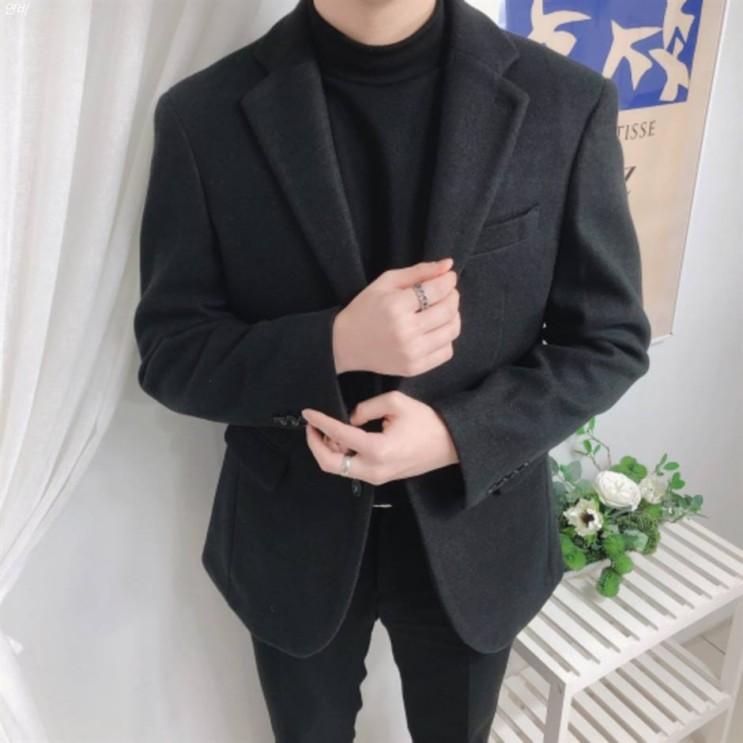 [할인정보] 남자 겨울 울 캐시미어 스판 블레이져 싱글 자켓 BT  66,800 원✌︎ 19% 할인!