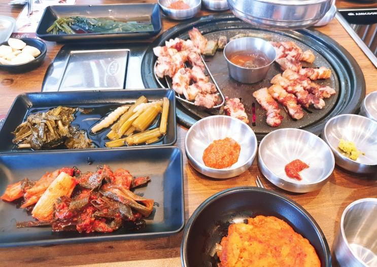 여러가지 쌈과 숙성고기가 맛있는 다산동고기집 육시리 다산신도시점