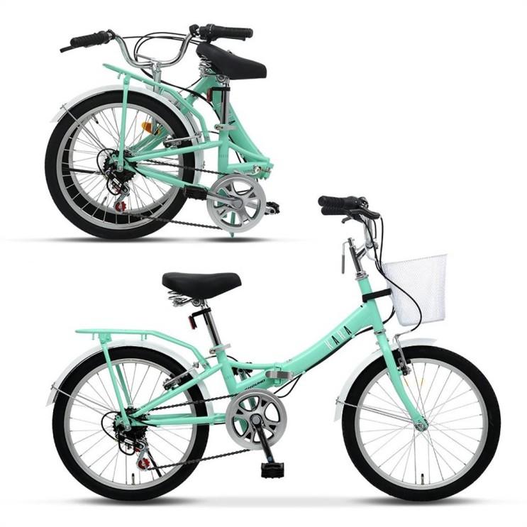 [특가상품] 삼천리자전거 KARA 민트 미니벨로 20인치 접이식 접이형 바구니 미니 생활 접이식자전거 2021년형 149,000 원♥ ♥