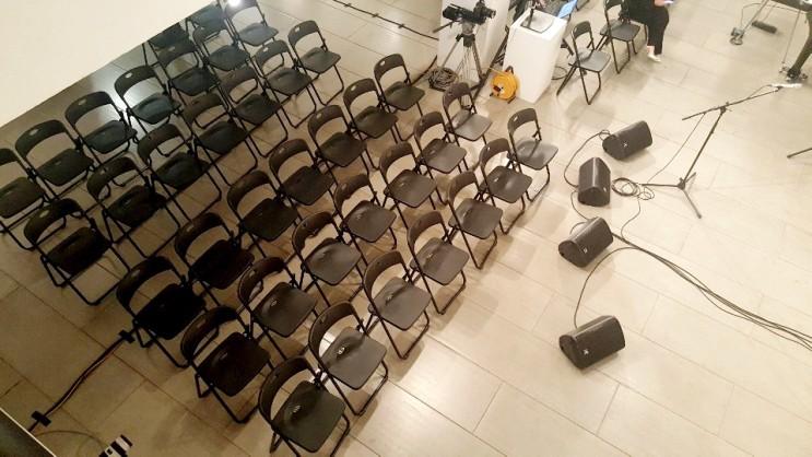 [행사렌탈] 음악회 블랙 접이식 의자대여